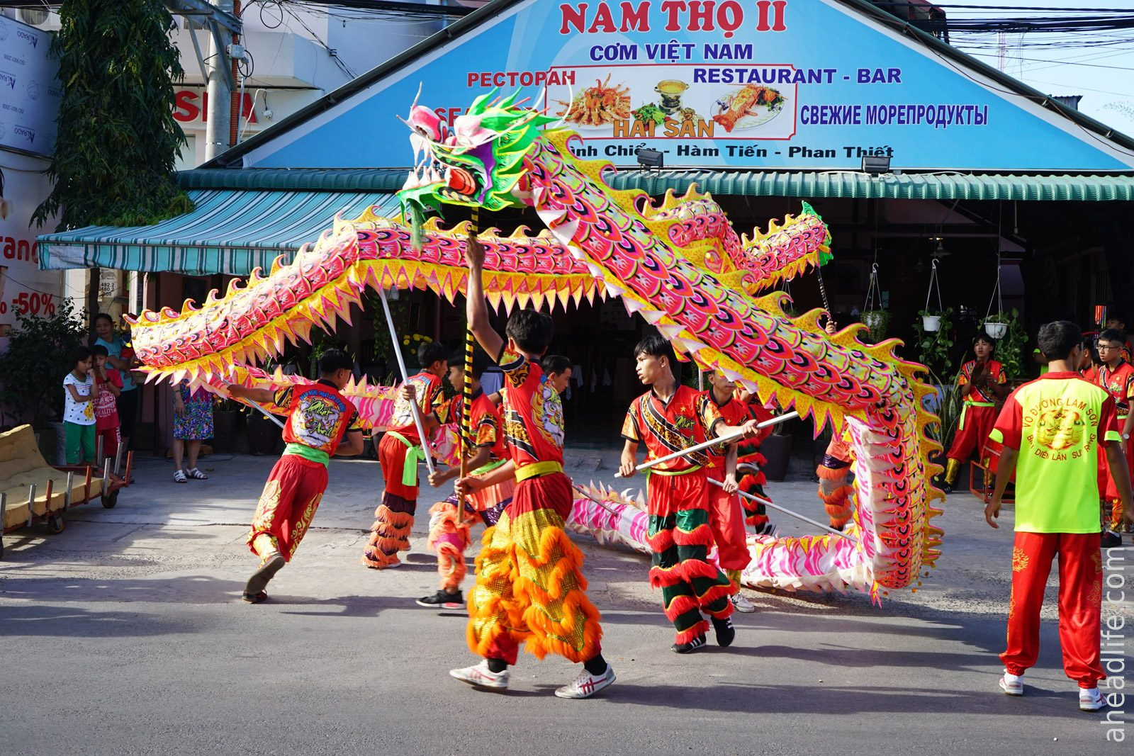Танец Дракона Вьетнамский Новый год Тет