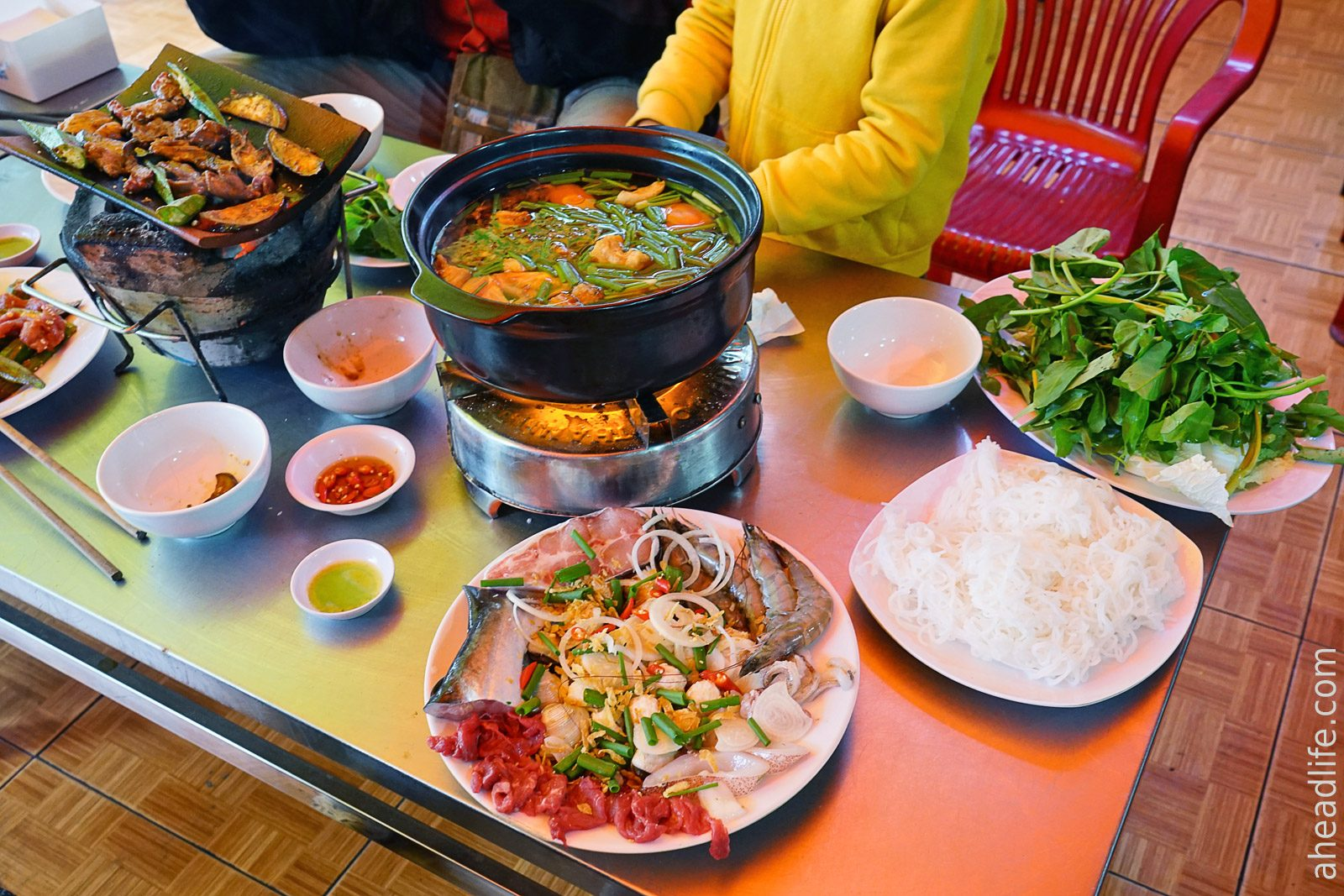 Суп лау с морепродуктами