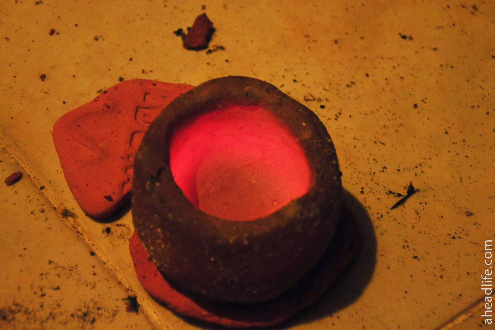 Керамика остывает