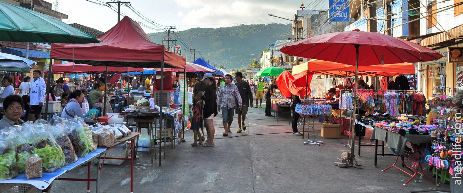 night market in Khanom