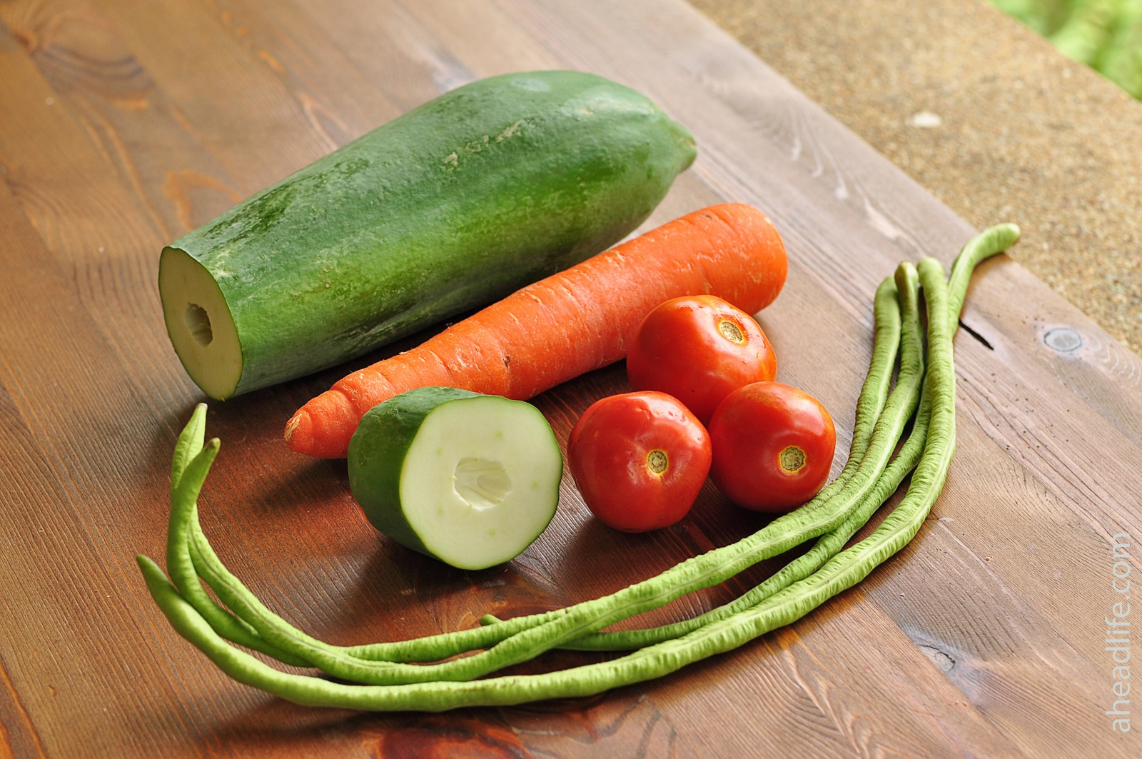 Салат из папайи Сам Том: ингредиенты