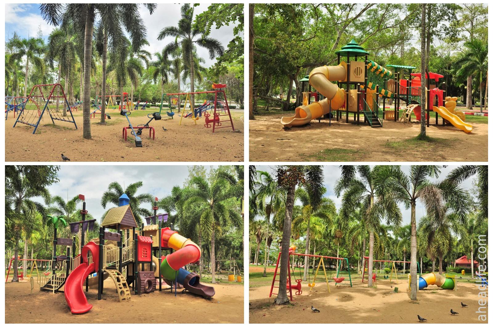 Детская площадка в парке Сураттани
